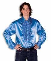 Heren rouche overhemd blauw kopen