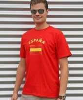 Heren t-shirt met de spaanse vlag kopen