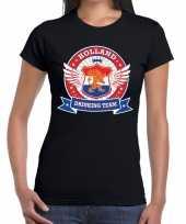 Holland drinking team t-shirt zwart dames kopen