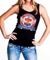 Holland drinking team tanktop mouwloos shirt zwart dames kopen 10140298