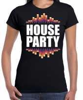 House party fun tekst t-shirt zwart voor dames kopen