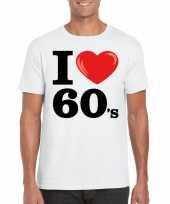 I love 60 s t-shirt wit heren kopen