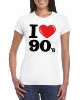 I love 90 s t-shirt wit dames kopen