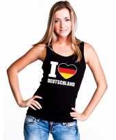 I love duitsland supporter mouwloos shirt zwart dames kopen