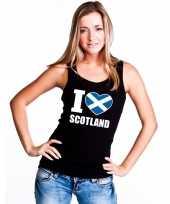 I love schotland supporter mouwloos shirt zwart dames kopen