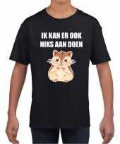Ik kan er ook niks aan doen hamsteren t-shirt zwart voor kinderen kopen