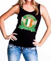 Ireland drinking team tanktop mouwloos shirt zwart dames kopen