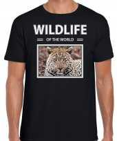 Jaguar foto t-shirt zwart voor heren wildlife of the world cadeau shirt jaguars liefhebber kopen