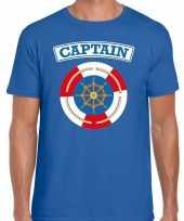 Kapitein captain carnaval verkleed shirt blauw voor heren kopen