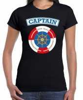 Kapitein captain carnaval verkleed shirt zwart voor dames kopen