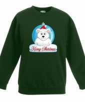Kersttrui ijsbeer kerstbal groen voor jongens en meisjes kopen