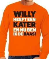 Koningsdag fun trui willy heeft een kater oranje heren kopen