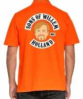 Koningsdag polo t-shirt oranje sons of willem holland mc voor heren kopen