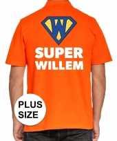 Koningsdag polo t-shirt super willem voor heren kopen