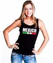 Mexico supporter mouwloos shirt tanktop zwart dames kopen