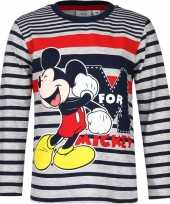Mickey mouse shirt lange mouw blauw grijs voor jongens kopen