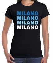 Milano milaan steden shirt zwart voor dames kopen
