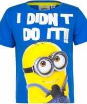 Minions shirt blauw voor kinderen kopen