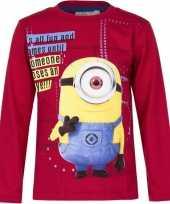 Minions shirt lange mouw rood voor jongens kopen