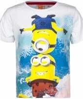 Minions shirt wit voor kinderen kopen