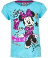 Minnie mouse shirt korte mouw blauw voor meiden kopen