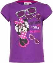 Minnie mouse shirt korte mouw paars voor meiden kopen