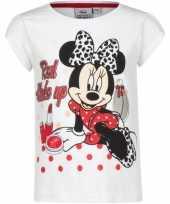 Minnie mouse shirt korte mouw wit voor meiden kopen
