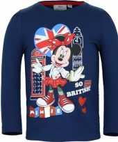 Minnie mouse shirt lange mouw blauw voor meisjes kopen