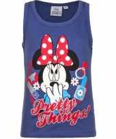 Mouwloos minnie mouse t-shirt blauw kopen