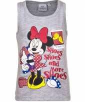 Mouwloos minnie mouse t-shirt grijs kopen