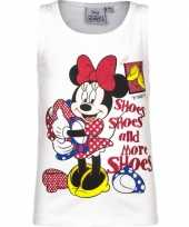 Mouwloos minnie mouse t-shirt wit kopen