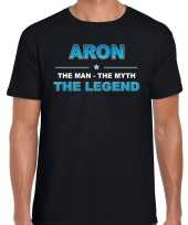 Naam aron the man the myth the legend shirt zwart cadeau shirt kopen