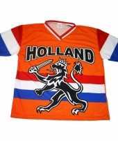 Nederland supporters t-shirt met zwarte leeuw en vlag kopen 10047888
