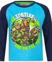Ninja turtles shirt lange mouw blauw voor jongens kopen