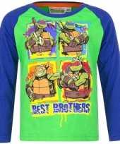 Ninja turtles shirt lange mouw groen voor jongens kopen