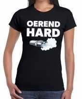 Oerend hard zwarte cross achterhoek t-shirt zwart voor dames kopen