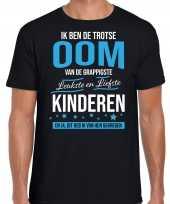 Oom is trots op kinderen fun kado shirt zwart voor heren kopen