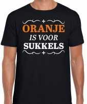 Oranje is voor sukkels shirt zwart heren kopen