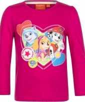 Paw patrol shirt lange mouw fuchsia voor meiden kopen