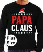 Plus size foute kerstborrel trui kersttrui papa claus zwart voor heren kopen