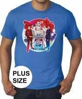 Plus size officieel toppers in concert 2019 t-shirt blauw heren kopen