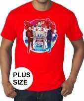 Plus size officieel toppers in concert 2019 t-shirt rood eren kopen