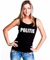 Politie mouwloos shirt zwart voor dames kopen
