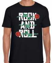 Rock and roll 50s shirt zwart voor heren kopen