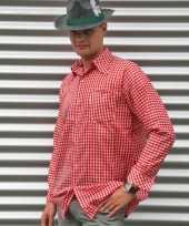 Rode oktoberfest blouse voor heren kopen