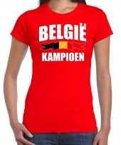 Rood fan shirt kleding belgie kampioen ek wk voor dames kopen