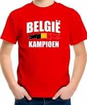 Rood fan shirt kleding belgie kampioen ek wk voor kinderen kopen