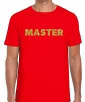 Rood master goud fun t-shirt voor heren kopen