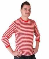 Rood met wit gestreepte dorus trui voor heren kopen