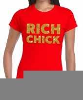 Rood rich chick goud fun t-shirt voor dames kopen
